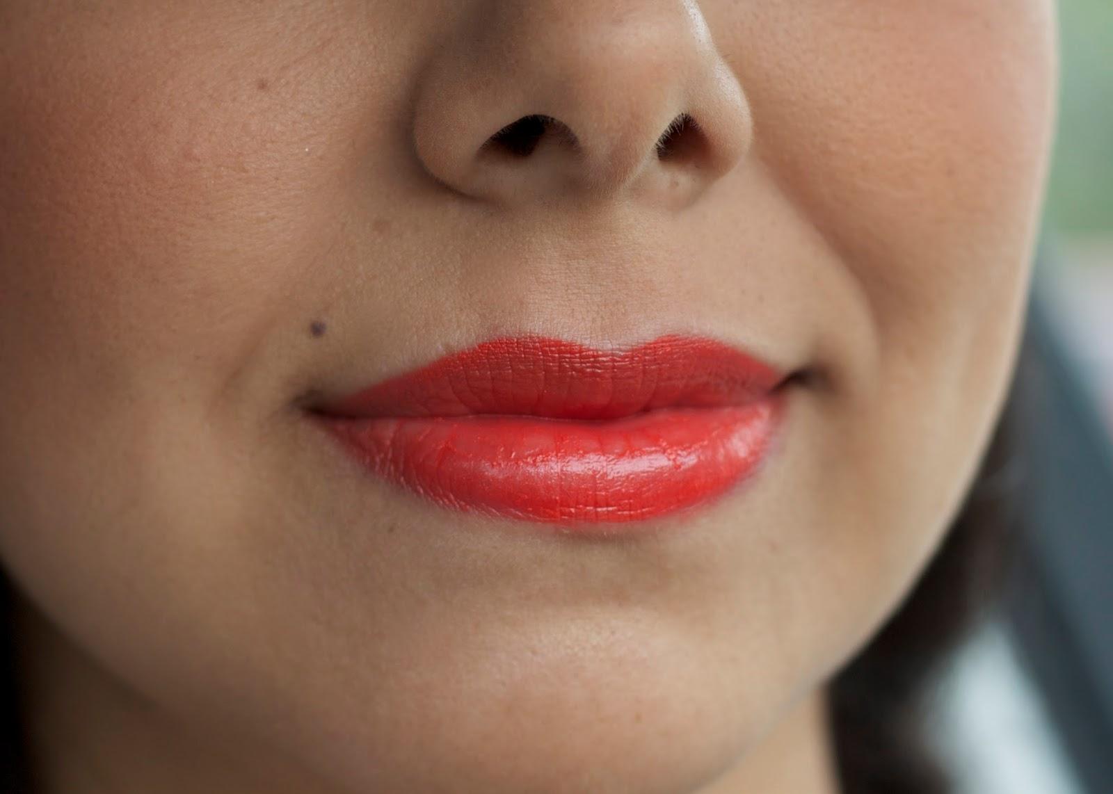 MAC Wash and Dry Collection Morange lipstick, morange lips, perfect summer lipstick