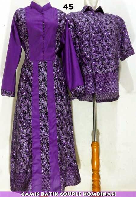 Jual Gamis Batik Syari Sarimbit Couple Kerudung Murah