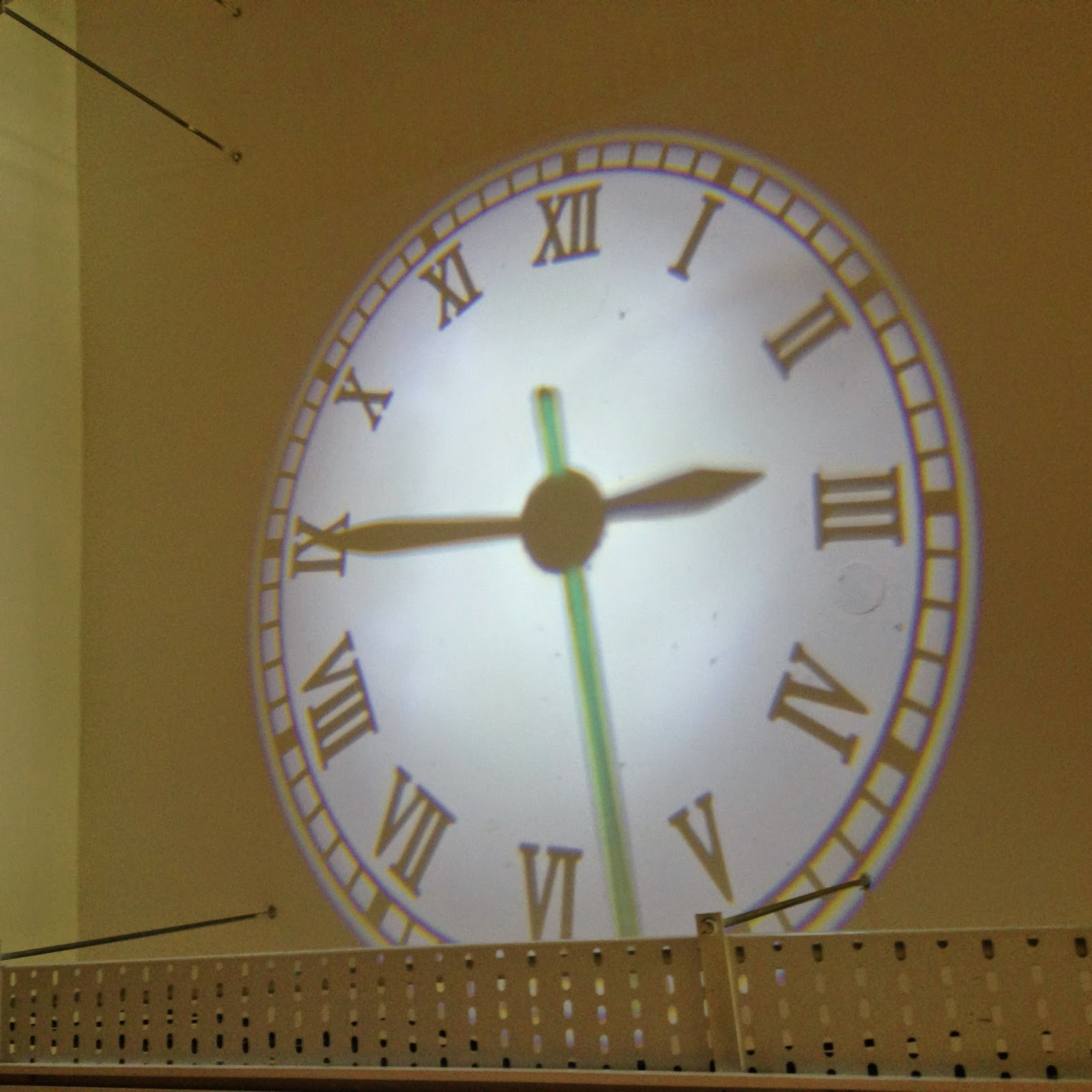 Clock on the ceiling