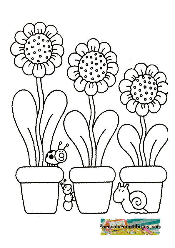 dibujo de flores para colorearr