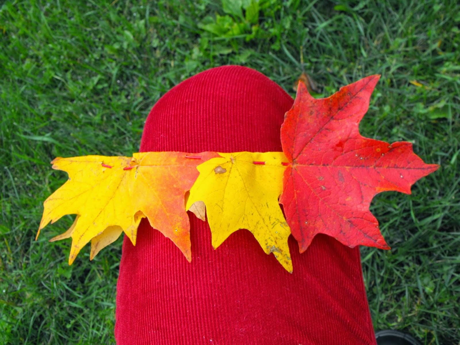 Гирлянды и венок из осенних листьев своими руками 80