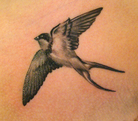 Black sparrow tattoos - photo#10