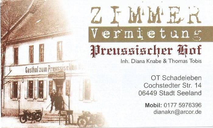 "Zimmervermietung ""Preussischer Hof"""