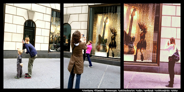 Paparazzi Stalking Just a Mannequin Sporting a Mohawk, #BGWindows, Bergdorf Goodman, NYC