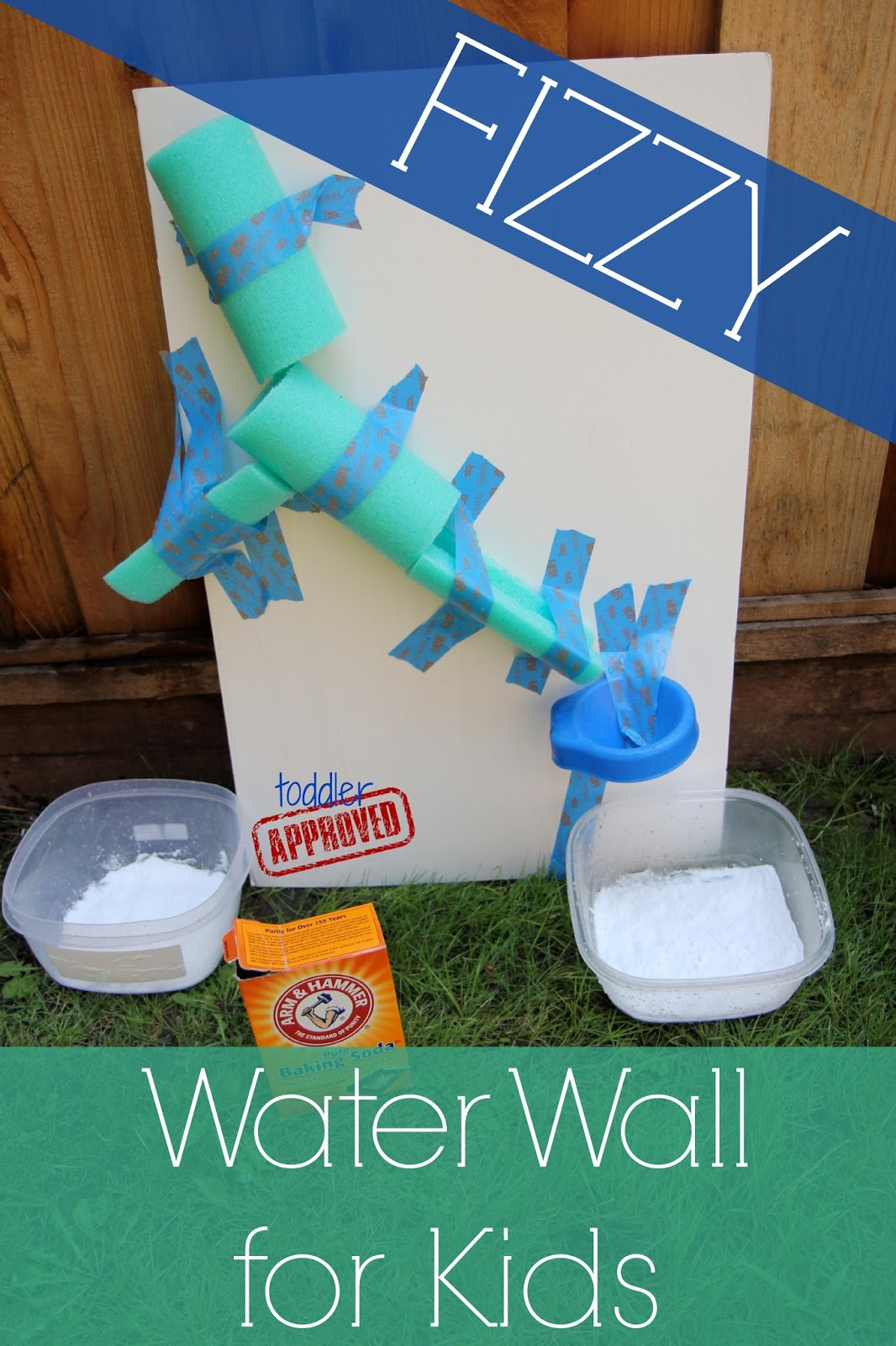 toddler approved easy diy water wall for kids backyard science