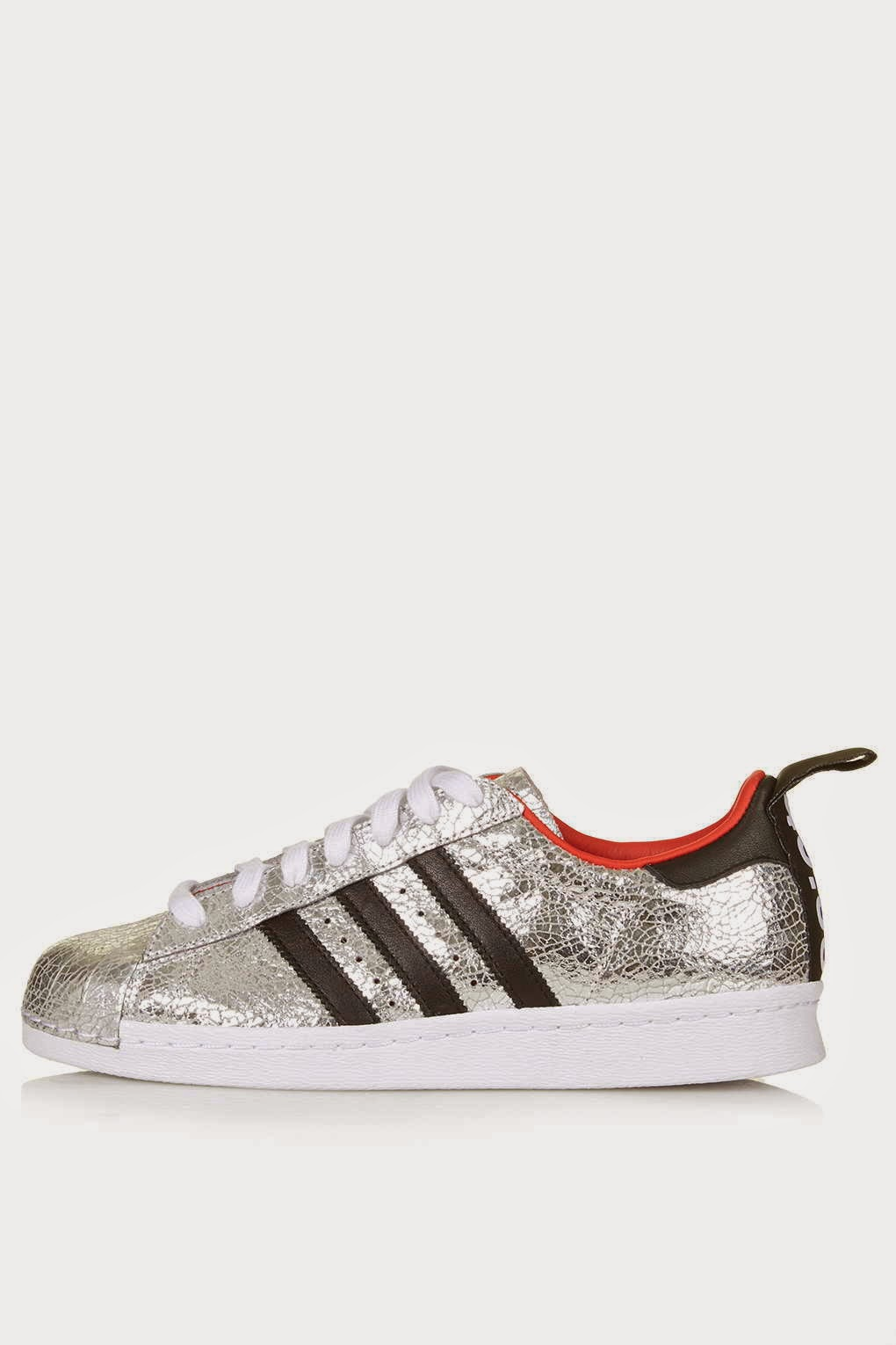 topshop adidas silver trainers