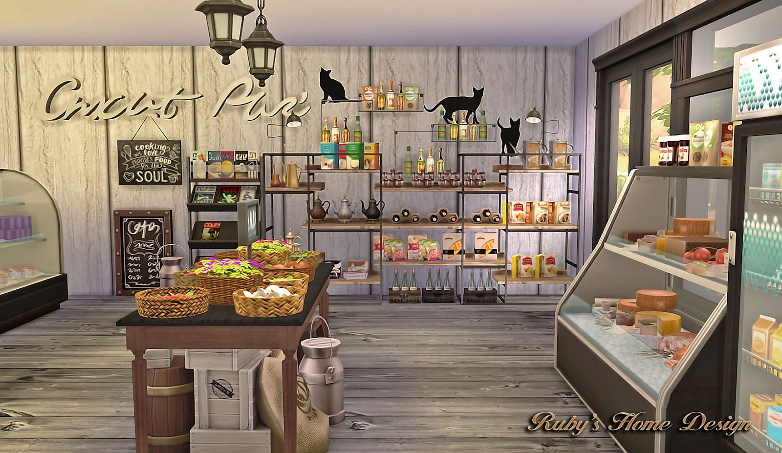 Sims4 Deli Amp Grocery Store 小吃雜貨鋪 Ruby S Home Design