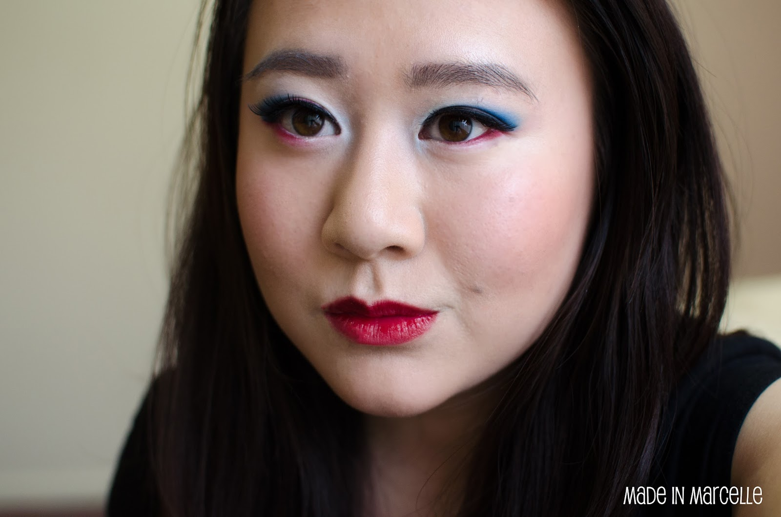 [CREATION] By M Captain America Inspired Simple Make-up | Made In Marcelle