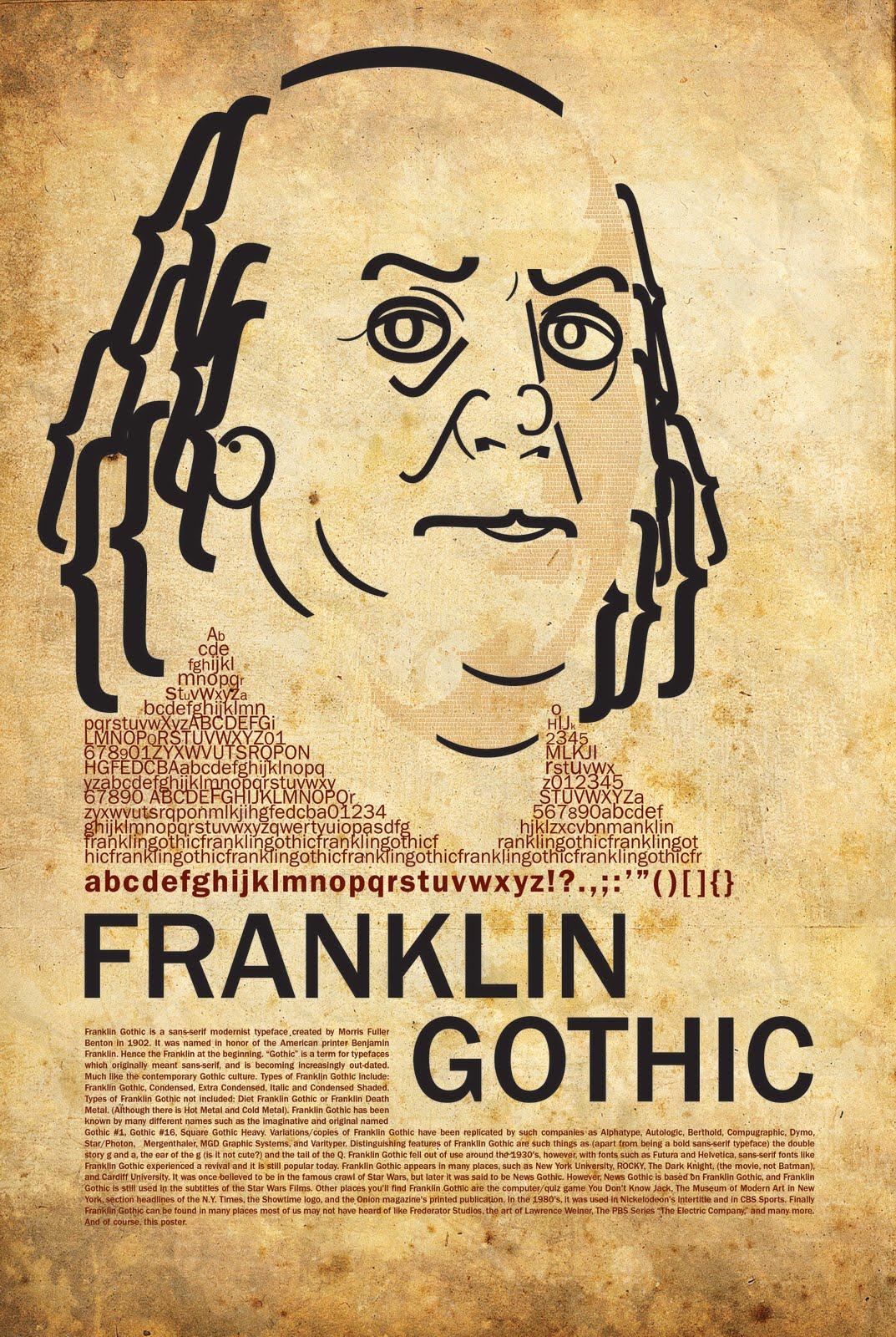 austintatious franklin gothic those of you interested in learning more about franklin gothic or if you would just like a helping of my witty sense of humor here s the essay i wrote and