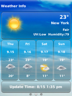 Weather Plus Pro v3.2.0 BlackBerry