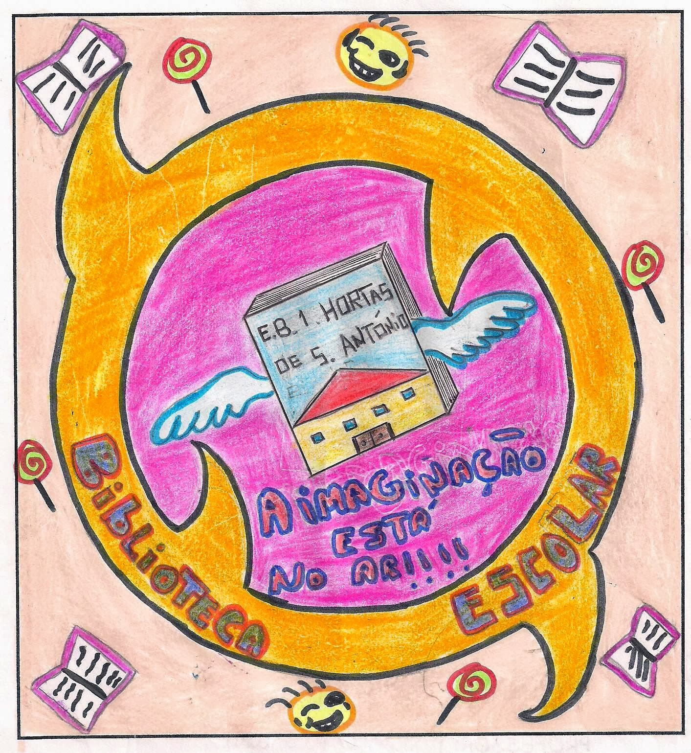 Logótipo e Slogan da Biblioteca EB1/JI Horta de Santo António