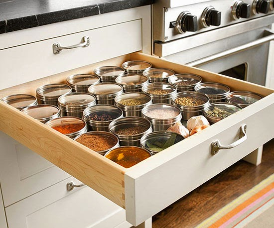 Transfer Spices Into Matching Tins To Keep Your Collection Organized