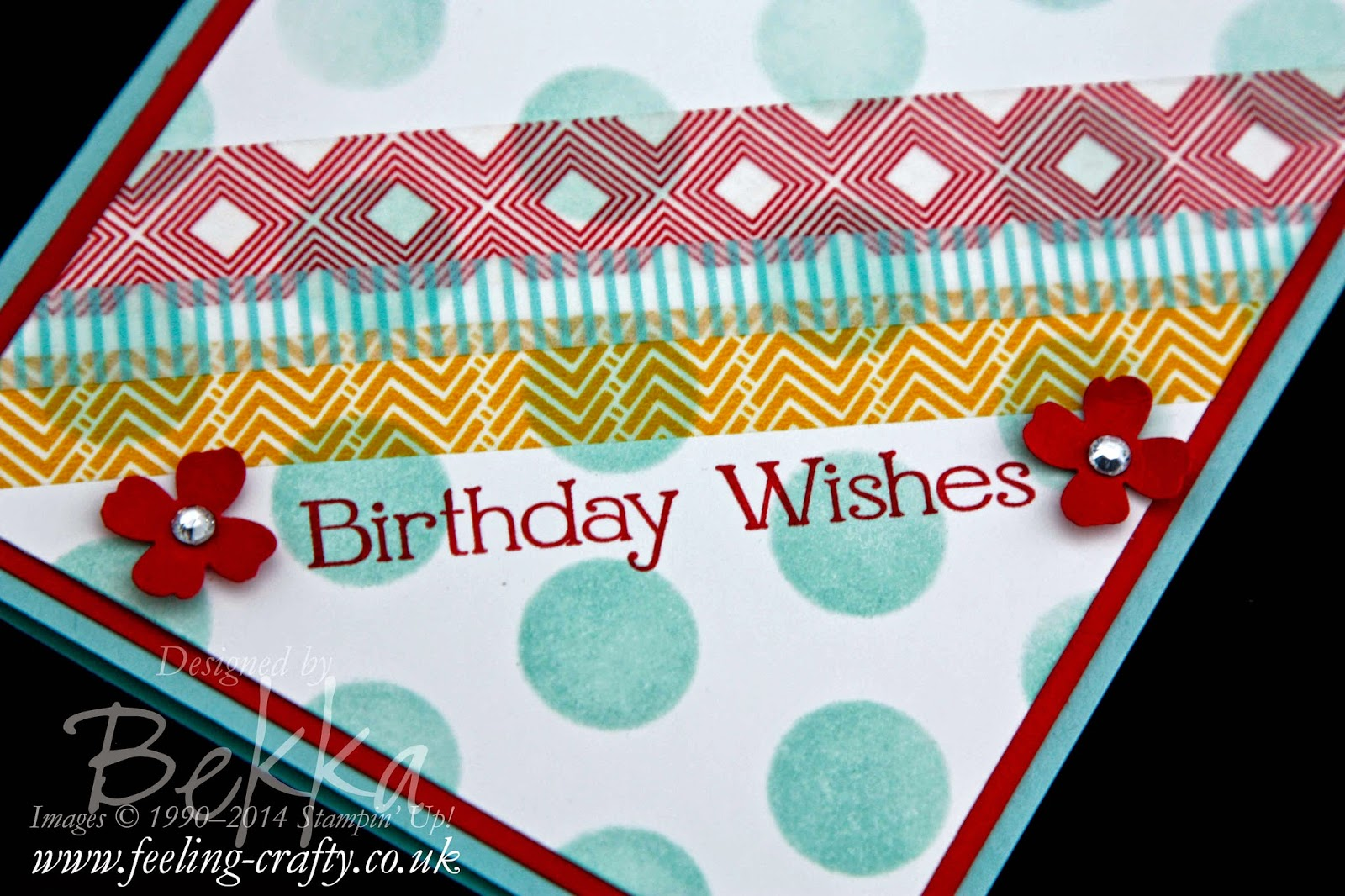 Birthday Card Featuring Beach House Washi Tape by Stampin' Up! UK  available here