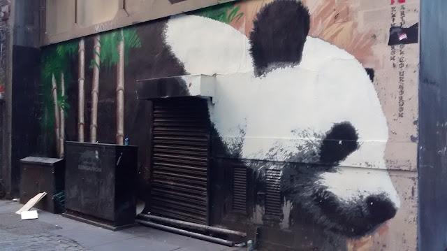 Klingatron Giant Panda Graffiti Glasgow