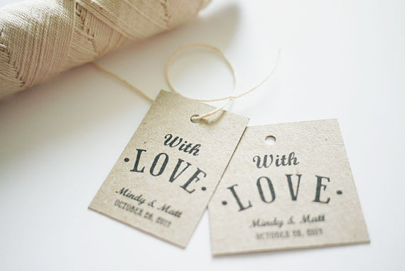 Wedding Favor Tags Online : ... favor tags with the words with love perfect as wedding favor tags or