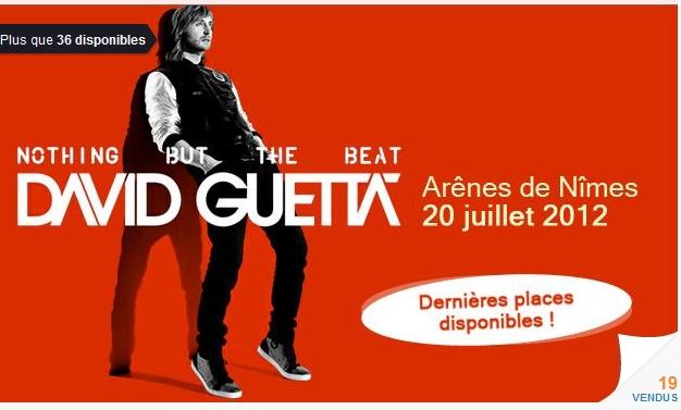 s David Guetta à Nîmes, Pelouse Or 59€ au lieu de 159€