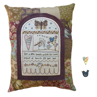 Lynette Anderson Designs SWEET SUMMER Stitchery Pillow Patter