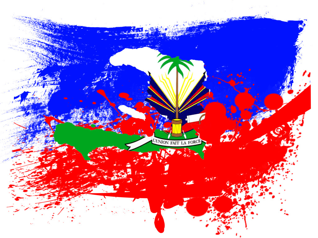 Haitian Flag Wallpaper color spalsh flag of Haiti