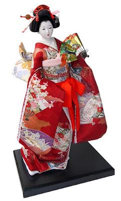 Boneka Kimono Jepang Keren