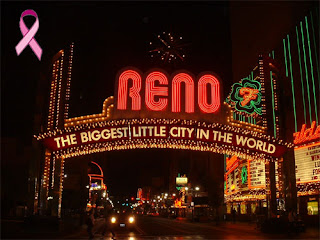 reno with pink ribbon for mom