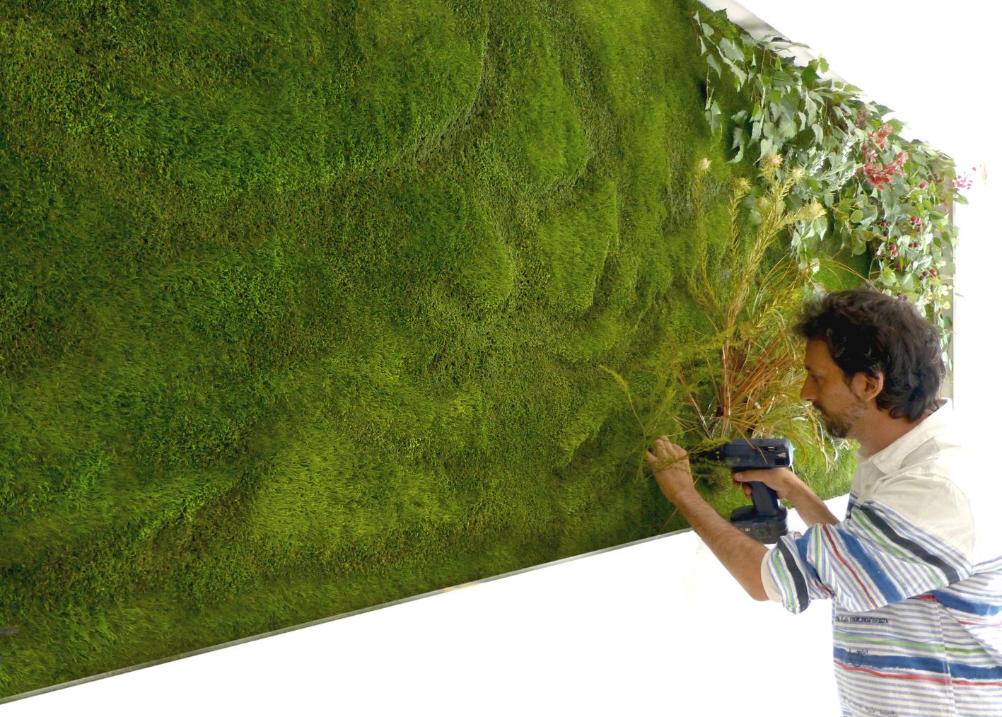 Cuaderno de campo y taller jard n vertcal artificial for Jardin verde