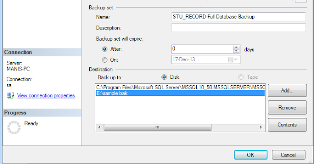 database backup in sql