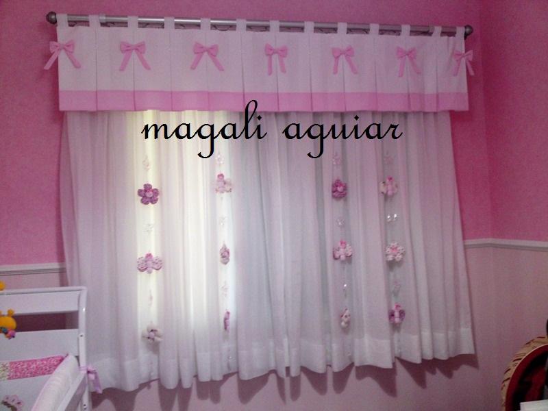 Ateliê Magali Aguiar Cortina para quarto infantil  menina