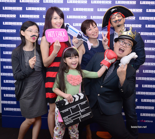 Happy people at the Liebherr social media launch event