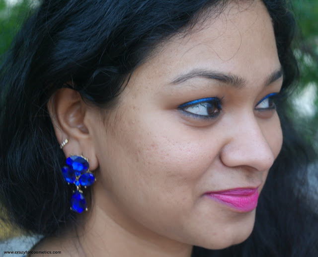 Blue stone studded earrings from Monoprix
