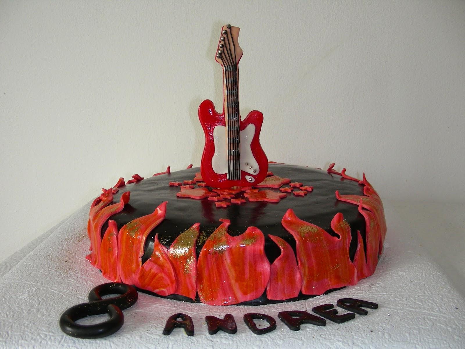 Bien-aimé gâteau d'anniversaire guitare | GATEAUX D'ALINE RZ48