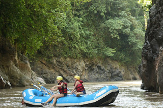 Calm after Rafting in Pacuare River in Costa Rica