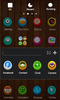 Screenshots of the S-LuLuLu theme for Android mobile, tablet, and Smartphone.