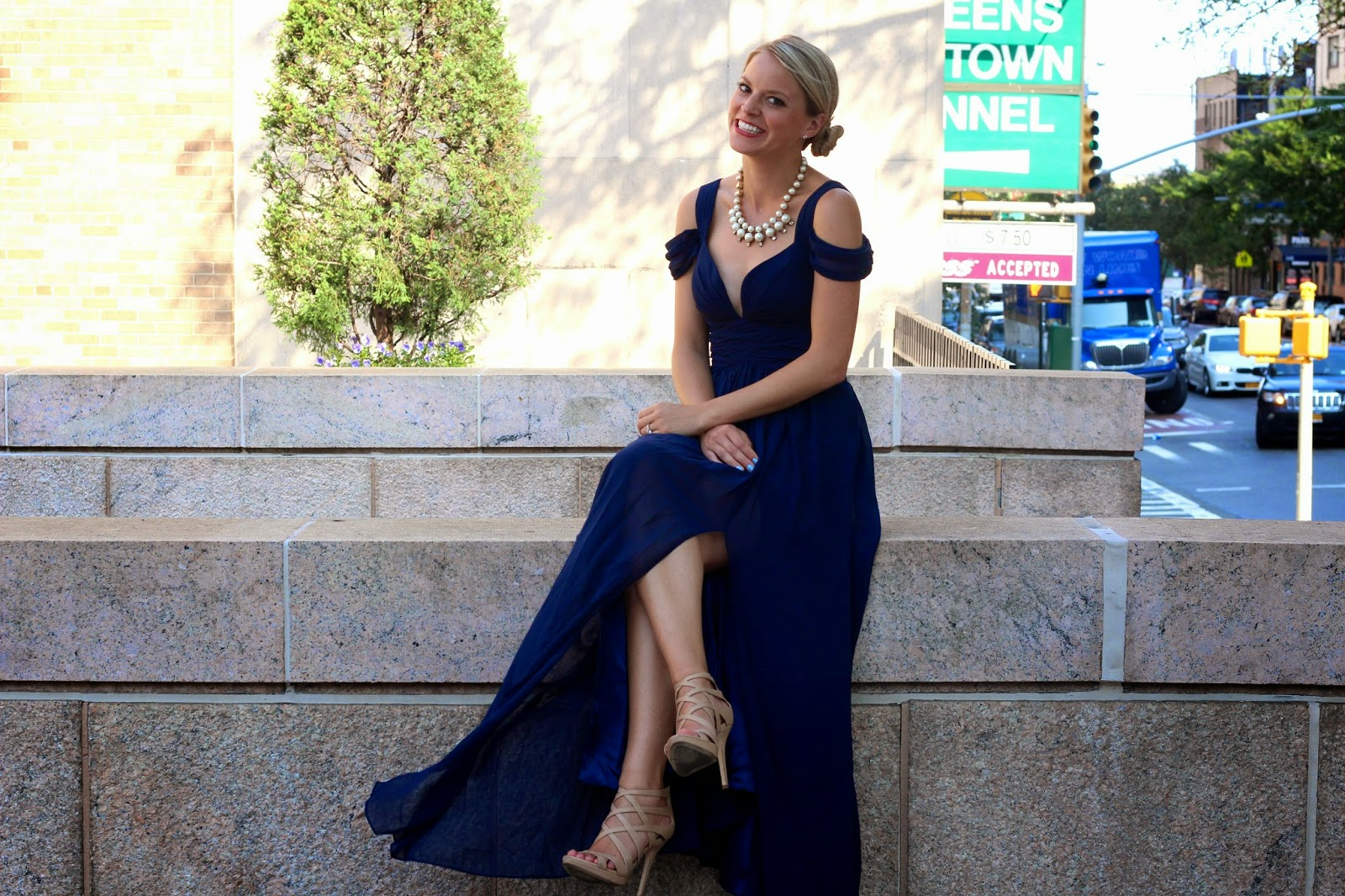 4th Of July Wedding Guest Dresses Outfits Navy Maxi Dress
