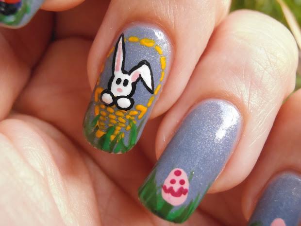 lady leyel nail art happy easter