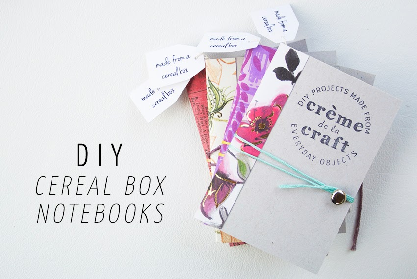 My diy cereal box notebook business cards you can find my original cereal box notebook tutorial here but i created a modified version for these extra mini notebooks below ccuart