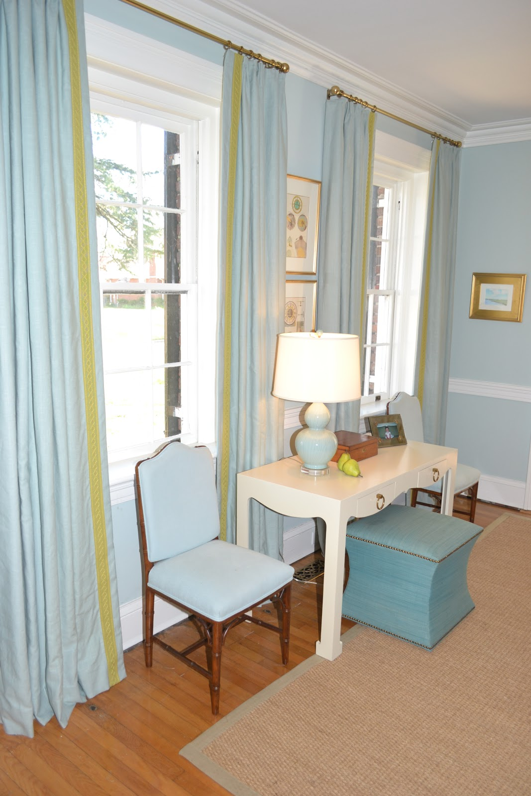 Lucy williams interior design blog before and after for Interior design window treatments