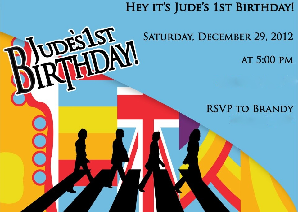 See Our Sweet Life Hey Jude S 1 A Beatles Birthday Party