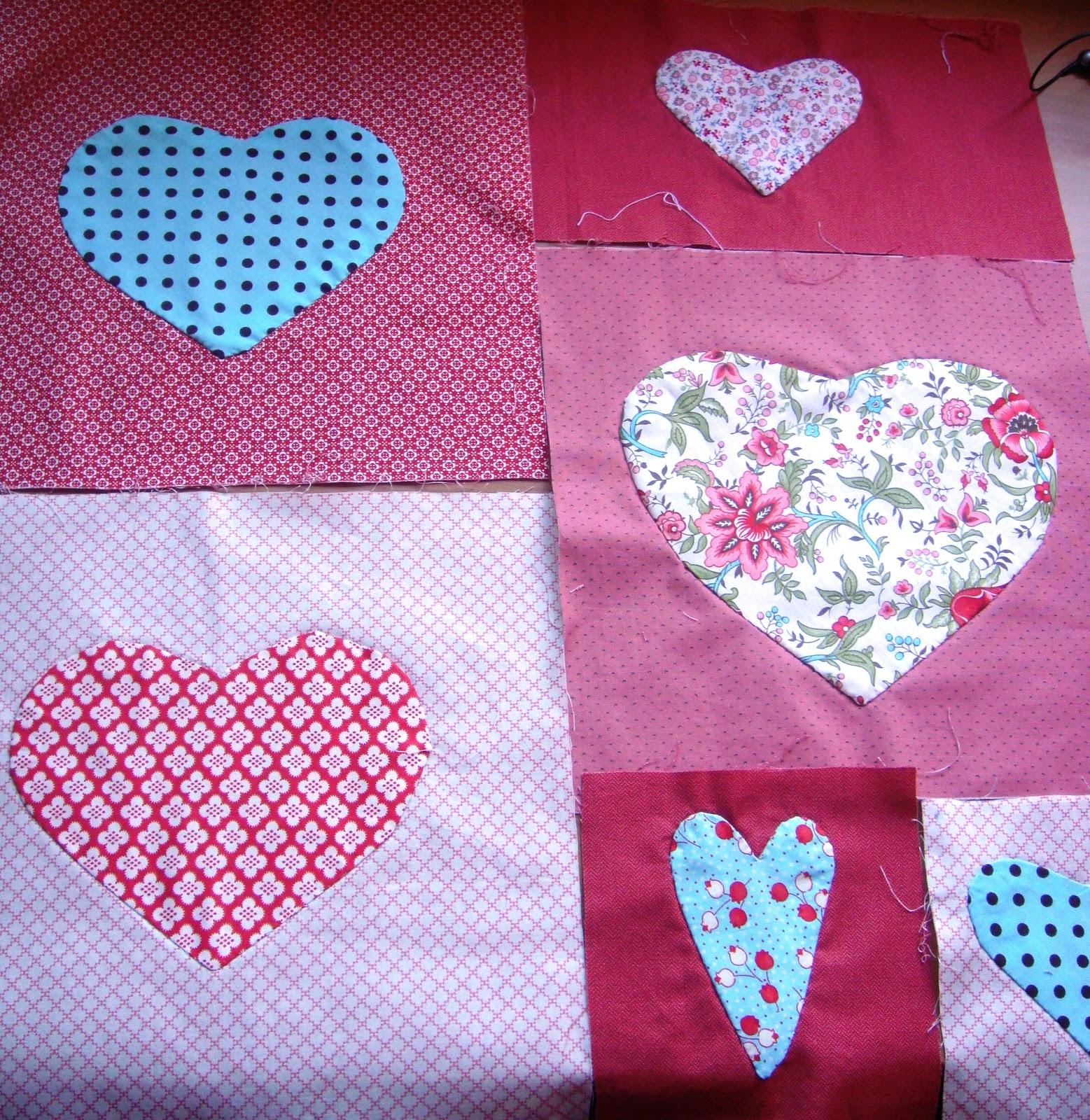 Va de corazones manualidades - Como hacer colchas de patchwork ...
