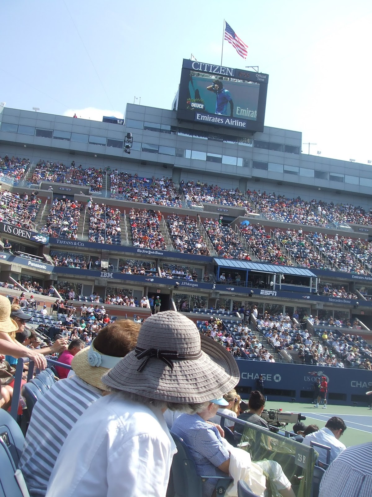 spectator style at the US Open