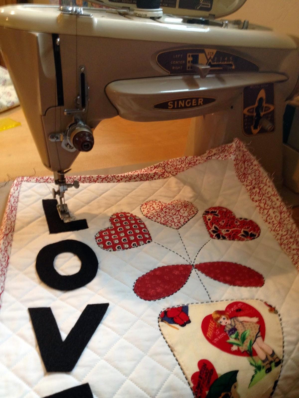 sewing wall hanging