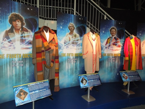 Doctor Who costumes Fourth to Sixth Doctor