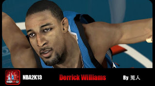 NBA 2K13 Derrick Williams Cyber Face Mods