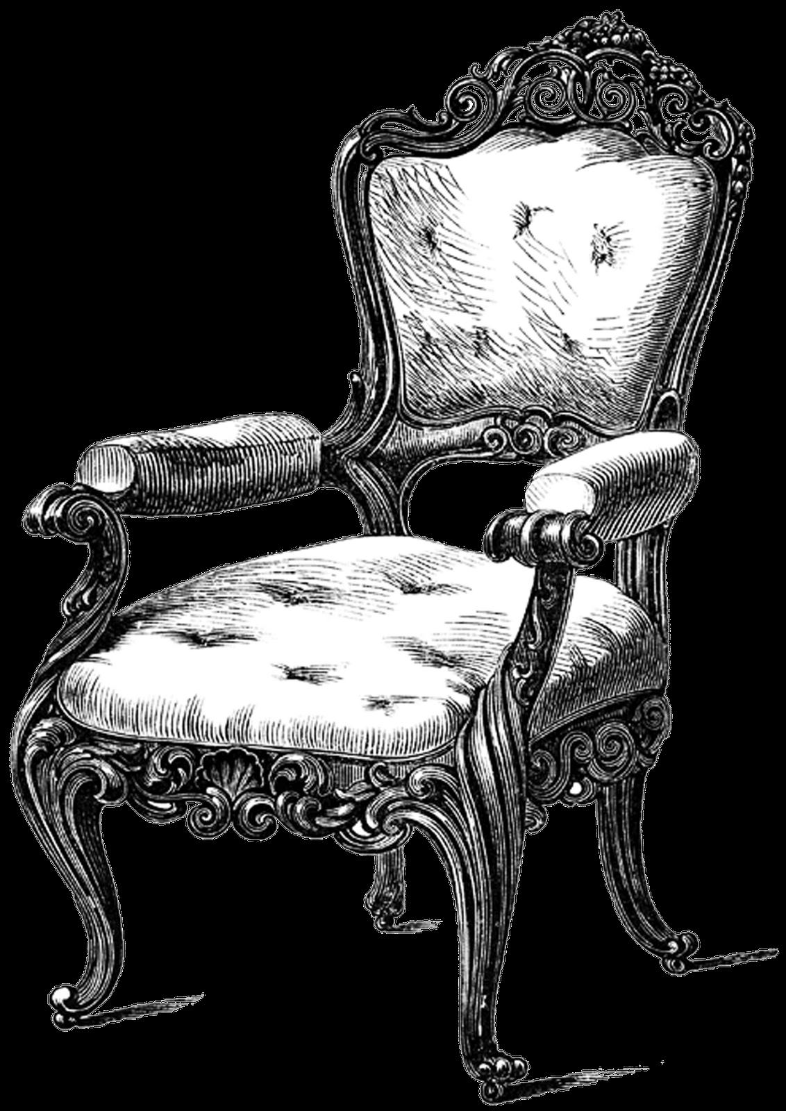 Free vintage digital stamps free vintage digital stamp ornate louis chair - Furniture image ...