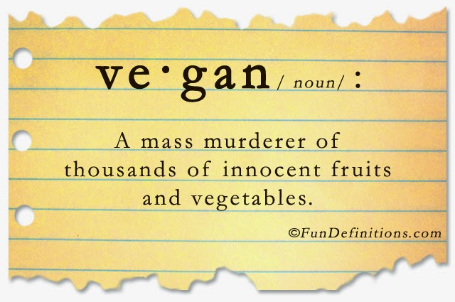 Definition Vegan - joke