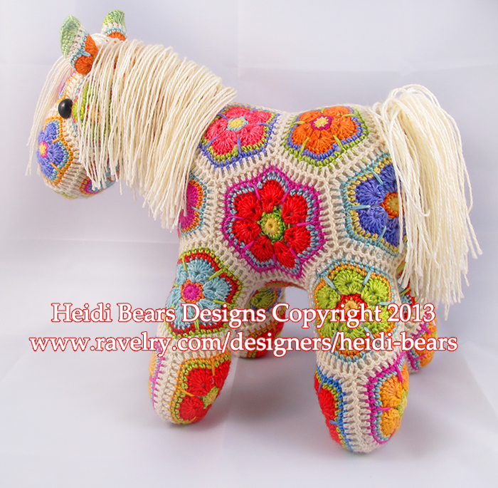 Heidi Bears: Fatty Lumpkin the brave African Flower Pony ...