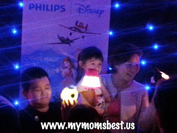 My son with Philips Disney Lighting