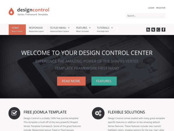 Design Control  Joomla Business Templates