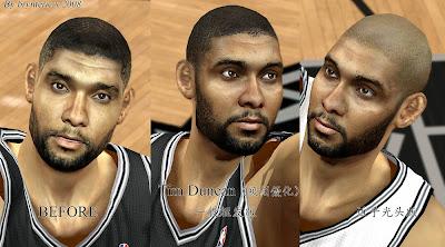 NBA 2K14 Tim Duncan Cyberface Mod