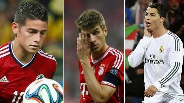 رونالدو و مولر و جيمس رودريغيز ابرز المرشحين لجائزة افضل لاعب في اوروبا