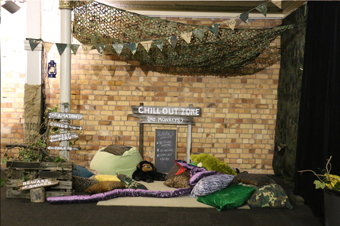 Jungle chill-out zone (no monkeys)